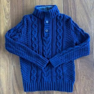 Boys size 8 Navy Cable knit sweater